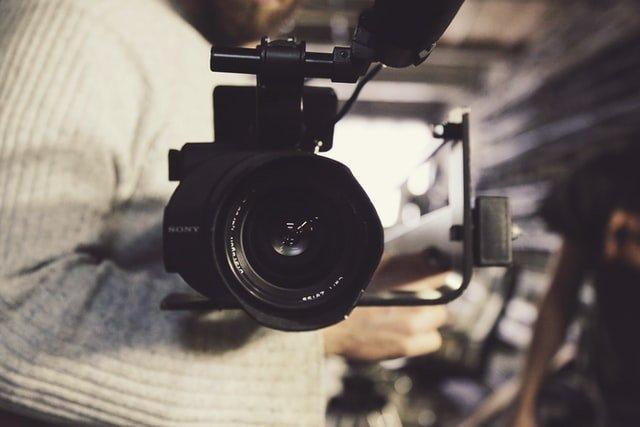 eine Videokamera für die Videoproduktion